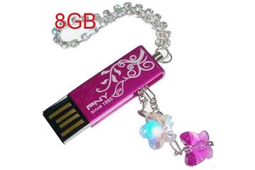 รับทำ PNY Crystal Love USB Flash Drive ราคาถูก พร้อมสกรีนโลโก้