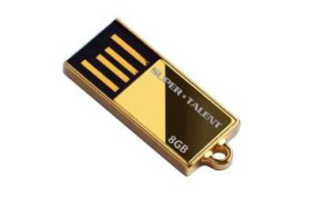 สั่งผลิต แฟลชไดร์ฟบางพิเศษ เคสสีทอง flash drive อันเล็ก ใช้เป็นจี้ห้อยคอ ดูหรูหรา