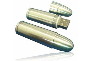 สั่งผลิต รับทำ Metal Flash Drive สกรีนโลโก้ แฟลชไดร์ฟลูกกระสุนปืน ราคาโรงงาน