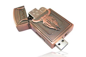 รับทำ ขายส่งแฟลชไดร์ฟไฟแช็ค และรับทำ Flash Drive รูปไฟแช็ค สกรีนลวดลาย