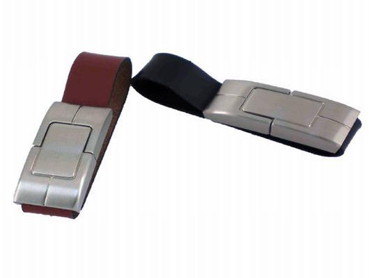 รับผลิต ผลิตแฟลชไดร์ฟกำไลข้อมือสายหนังราคาส่ง ตัวเรือน flash drive ทำจากโลหะ