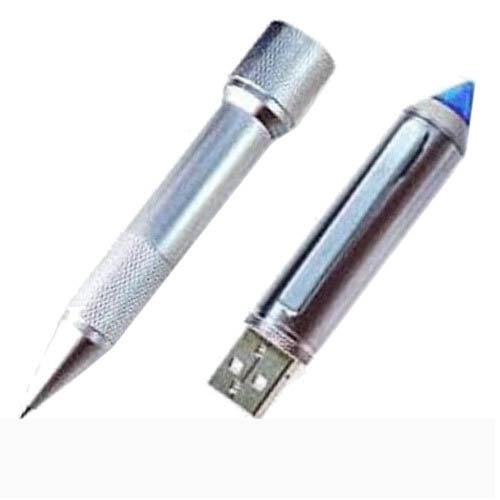 แฟลชไดร์ฟปากกา ด้ามจับอะลูมิเนียมกลึงลายไขว้กันลื่น ดูเรียบหรูและทนทาน