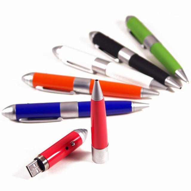 สั่งทำ แฟลไดร์ฟปากกาโลหะ ด้ามจับเป็นยางกันลื่น พร้อมกล่องสีดํา มีโฟมกันกระแทก