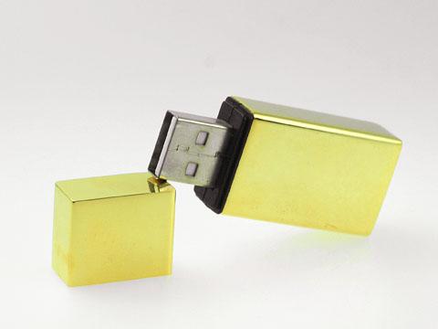 รับทำ แฟลชไดร์ฟพรีเมี่ยมแบบเหล็กโลหะ สั่งทำ แฟลชไดร์ฟ สีทอง พร้อมสกรีนโลโก้