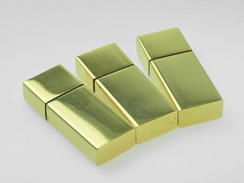 สั่งทำ แฟลชไดร์ฟพรีเมี่ยมแบบเหล็กโลหะ สั่งทำ แฟลชไดร์ฟ สีทอง พร้อมสกรีนโลโก้