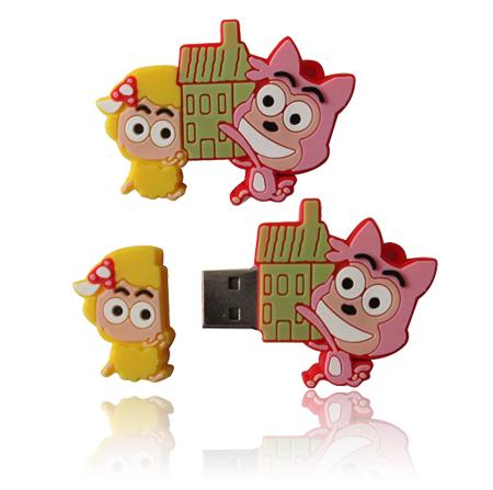 รับทำ บริษัทขาย ยูเอสบีทรัมไดร์ฟ สกรีนโลโก้ flash-drive ลายการ์ตูน ราคาส่ง