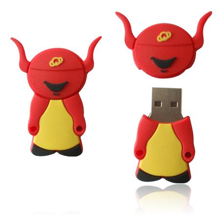 รับผลิต จำหน่าย ยูเอสบี พร้อมเลเซอร์ข้อความ flash-drive cartoon ราคาถูก