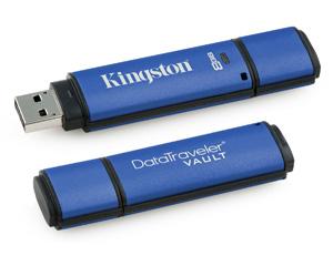 Kingston DataTraveler Vault ได้มาตรฐาน FIPS 197 และ TAA ราคาย่อมเยา