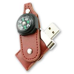 รับทำ รับผลิตแฟลชไดร์ฟพวงกุญแจหนังราคาส่ง ล็อคด้วยกระดุมติด มาพร้อมเข็มทิศ