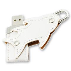 รับทำ แฟลชไดร์ฟพร้อมปั้มโลโก้ แฟลชไดร์ฟหนังรูปปลา มีพวงกุญแจห้อยทรัมไดร์