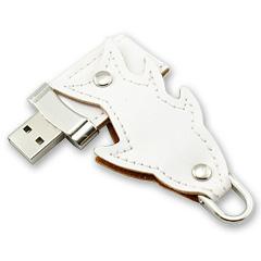 รับผลิต แฟลชไดร์ฟพร้อมปั้มโลโก้ แฟลชไดร์ฟหนังรูปปลา มีพวงกุญแจห้อยทรัมไดร์
