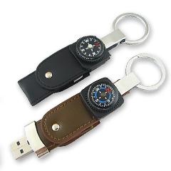 รับทำ ทรัมไดร์หนังมาพร้อมเข็มทิศ ขายส่ง thumb drive แบบพวงกุญแจพกพาสะดวก