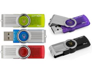 คิงส์ตันแฟลชไดร์ฟ DataTraveler มีให้เลือกหลายสี ขายส่ง พร้อมสกรีนโลโก้