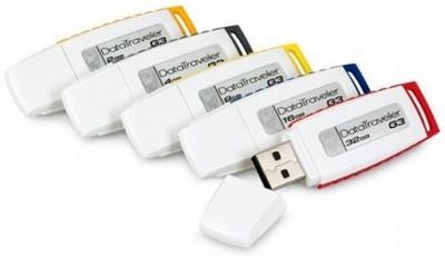ขายส่ง คิงส์ตันแฟลชไดร์ฟ รุ่น DT-G3 และรับสกรีนโลโก้ บน Flash Drives