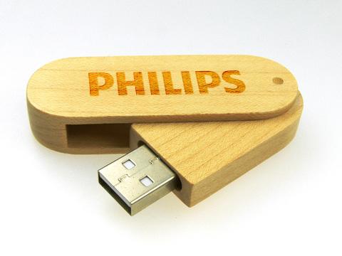 แฟลชไดร์ฟไม้ พร้อมสลักชื่อ รับผลิต thumb drive สกรีนโลโก้ - สินค้าขายดี