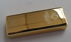 แฟลไดร์ฟ รูปทองคำแท่ง พร้อมสลักชื่อ ติดโลโก้ ดูสวยงามมาก - สินค้าขายดี