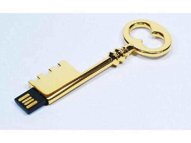 แฟลชไดร์ฟกุญแจทอง Metal USB Flash Drive รับผลิตของแจก ราคาโรงงาน