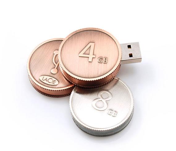 รับผลิต แฟลชไดร์ฟรูปเหรียญ สั่งทำ flash drive โลหะ พร้อมสกรีน ราคาถูก