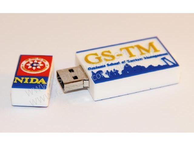 ขายส่งแฟลชไดร์ฟยางหยอด ติดโลโก้ NIDA รับผลิต Flash Drive ขึ้นรูปใหม่