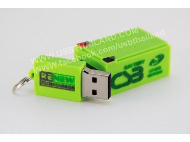 บริษัทผลิต Flash Drive ยางหยอด แฟลชไดร์ฟสกรีนโลโก้บริษัท renew tech