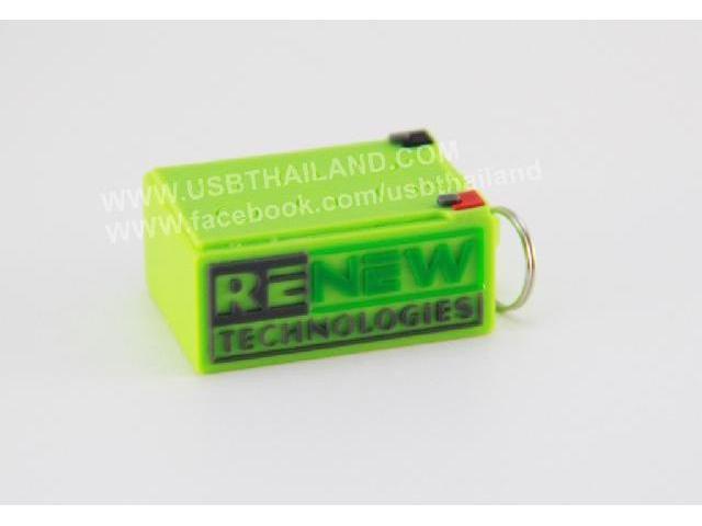 รับผลิต บริษัทผลิต Flash Drive ยางหยอด แฟลชไดร์ฟสกรีนโลโก้บริษัท renew tech