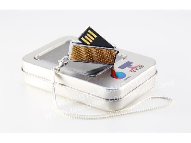 ของพรีเมี่ยม พวงกุญแจแฟลชไดร์ฟ สกรีนโลโก้ กับกล่องอะลูมิเนียม ราคาถูก