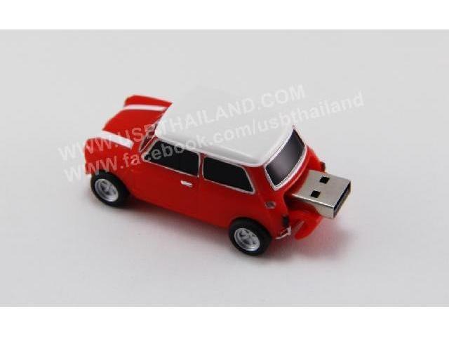 รับทำ แฟลชไดร์ฟยางหยอด รูปรถ 3 มิติ สีแดง รับผลิต ทรัมไดร์ รับประกัน 5 ปี