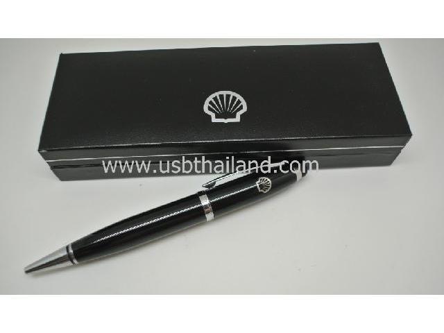 แฟลชไดร์ฟปากกา ปากกาพรีเมี่ยม สกรีนโลโก้ พร้อมกล่องสีดำหรูหรา ราคาส่ง