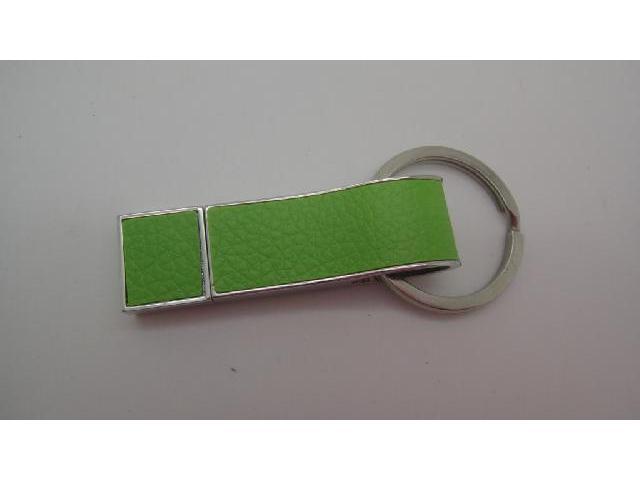 Leather Flash Drive สั่งทำแฟลชไดรฟ์โลหะสลับหนังเทียม รูปแบบพวงกุญแจ