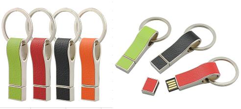รับทำ Leather Flash Drive สั่งทำแฟลชไดรฟ์โลหะสลับหนังเทียม รูปแบบพวงกุญแจ