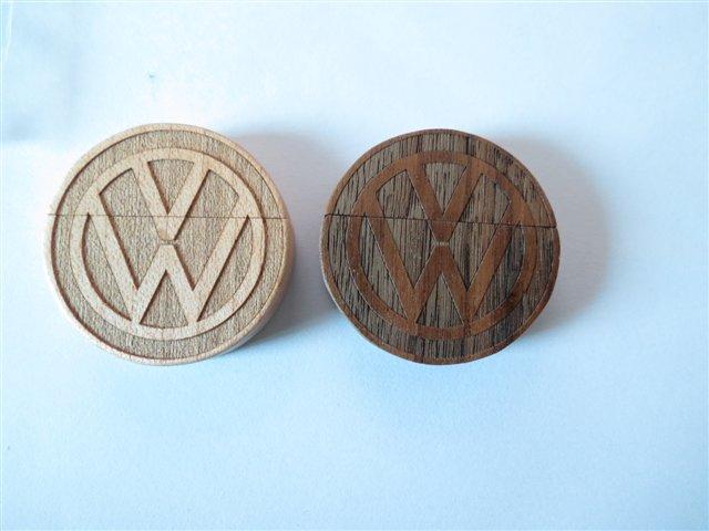 รับผลิต Round Shape Wooden Flash Drive สั่งทำ แฟลชไดร์ฟไม้ ทรงกลม