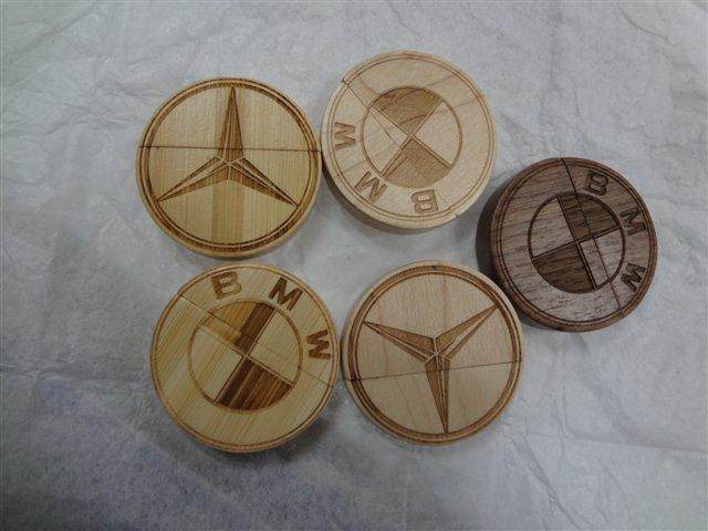 รับทำ รับผลิต Round Shape Wooden Flash Drive สั่งทำ แฟลชไดร์ฟไม้ ทรงกลม