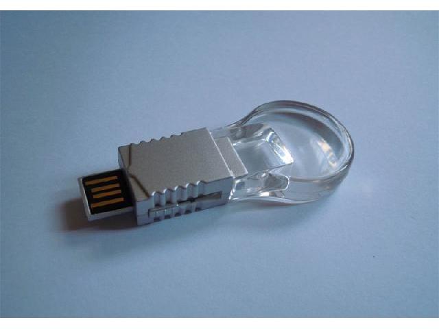 แฟลชไดร์ฟ คริสตัล รูปหลอดไฟ ทรงกลม สั่งทำ flash drive พร้อมสกรีนโลโก้