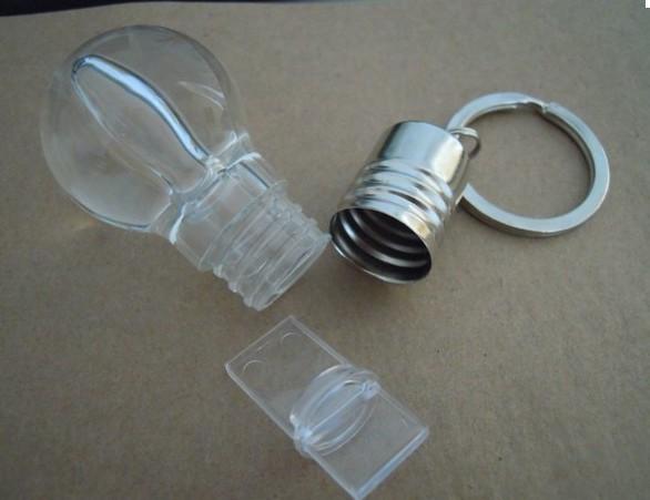 รับทำ แฟลชไดร์ฟคริสตัล รูปหลอดไฟ สั่งทำ พวงกุญแจ flash drive พร้อมกล่องใส่