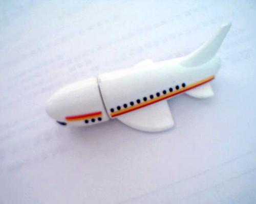 แฟลชไดร์ฟเครื่องบิน Plane flash drive สั่งทำ USB แฟลชไดรฟ์ยางราคาถูก