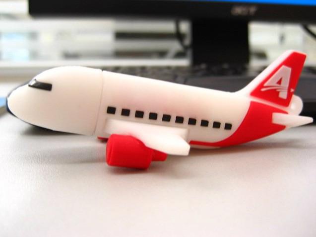 รับทำ Airplane flash drive แฟลชไดร์ฟเครื่องบิน ขายแฮนดี้ไดร์ฟยางหยอด สวยๆ