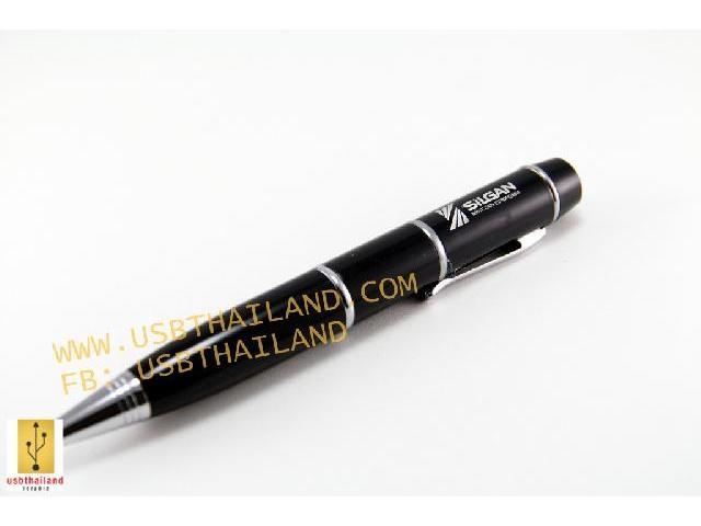 แฟลชไดร์ฟแบบปากกา สกรีนโลโก้ มาพร้อมเลเซอร์พอยเตอร์ ใช้งานได้จริง