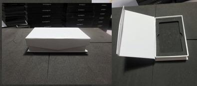 กล่องกระดาษสีขาว แถบแม่เหล็ก ขนาด 120*85*26 mm