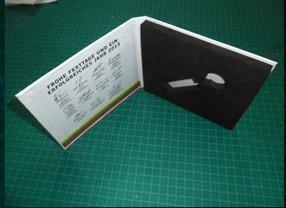 กล่องกระดาษแบน แบบกล่องซีดี