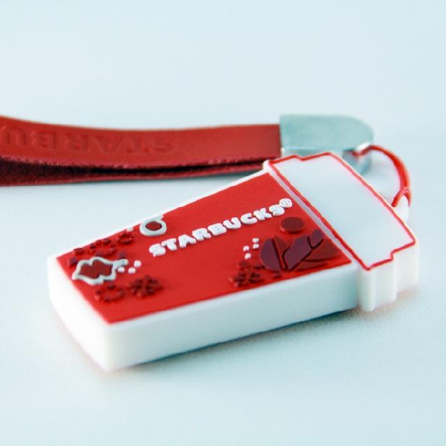 สั่งผลิต ตุ๊กตาพวงกุญแจ Starbucks แบบแฟลชไดร์ฟยางหยอด พร้อมกล่องสกรีนโลโก้