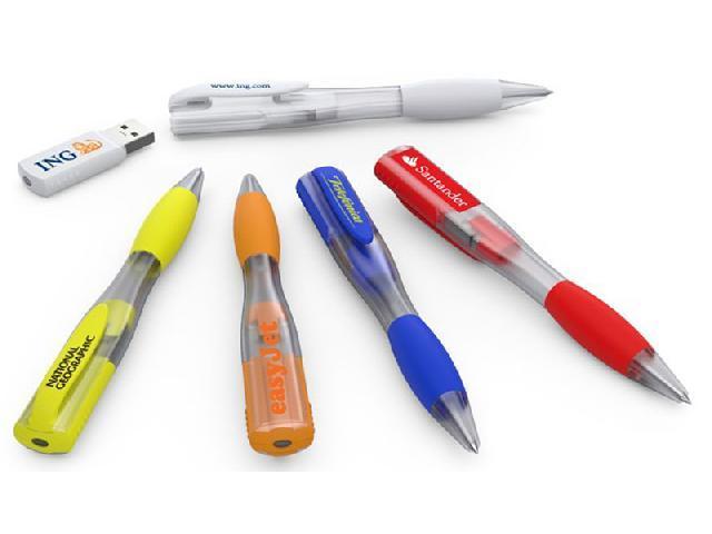 ปากกา Pen USB Flash Drive แฟลชไดร์ฟปากกาพลาสติก พร้อมสกรีนโลโก้