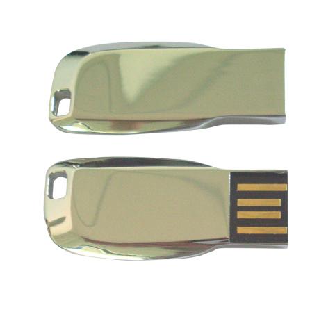 Metal USB Flash Drive แฟลชไดร์ฟแบบเหล็ก ผลิตจากโลหะสีเงิน สกรีนโลโก้