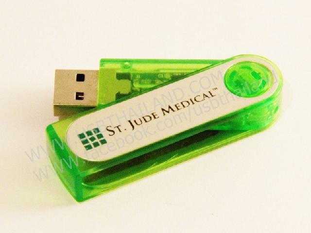 แฟลชไดร์ฟพร้อมสกรีนโลโก้ รับทำ Flash Drive แบบหมุน ติดโลโก้