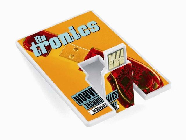 รับทำแฟลชไดร์ฟ พร้อมสกรีนโลโก้ แบบการ์ด card flash drive printed logo