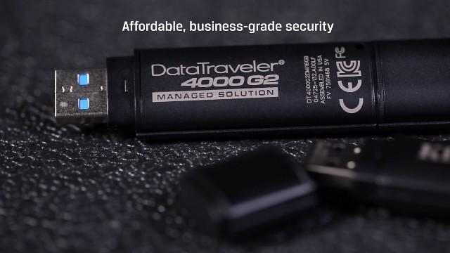 สั่งทำ แฟลชไดร์ฟ เข้ารหัส มาตรฐาน TAA รองรับ SafeConsole ราคาถูก Kingston