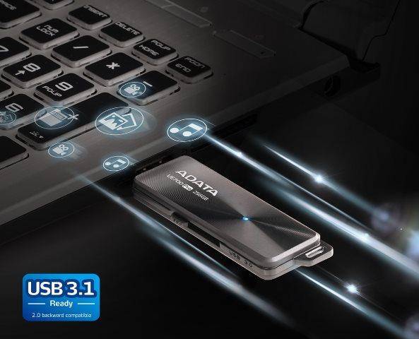 สั่งผลิต แฟลชไดร์ฟ โคตรบางเฉียบ กะทัดรัด พกพาสะดวก มีรูให้คล้องสาย (USB 3.1)