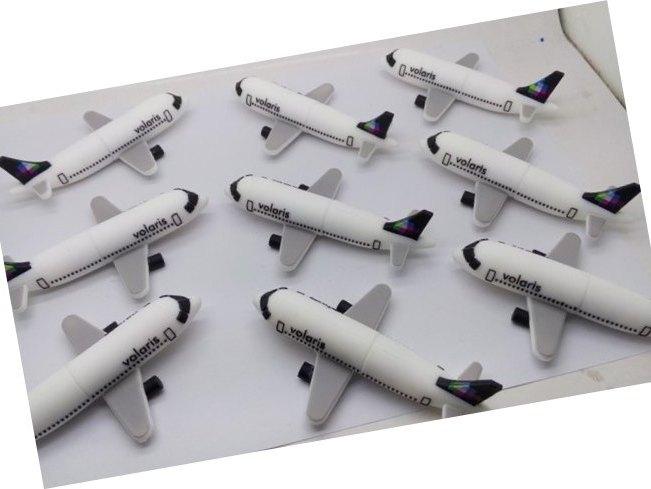 รับทำ แฟลชไดร์ฟยางหยอด รูปเครื่องบินโดยสาร การ์ตูน ผลิตทรัมไดร์ฟ พร้อมกล่อง