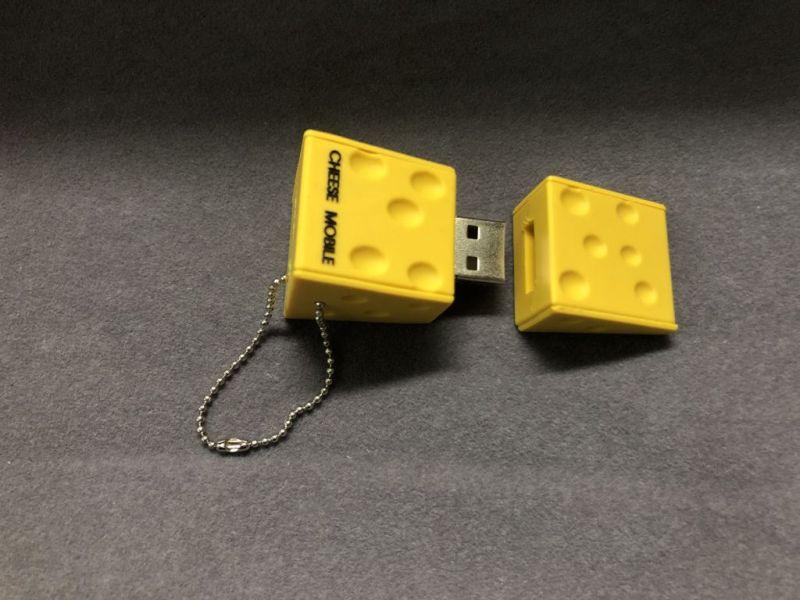 แฟลชไดร์ฟยางหยอด รูปชีส USB รูปการ์ตูน สั่งทำแฟลชไดร์ฟยางพีวีซี