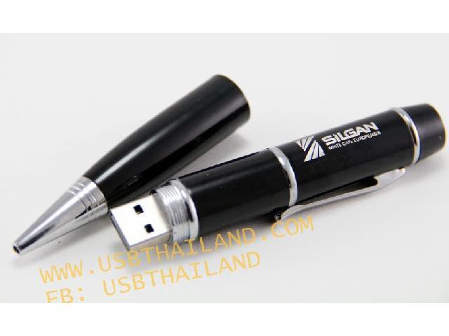 รับทำ แฟลชไดร์ฟแบบปากกา สกรีนโลโก้ มาพร้อมเลเซอร์พอยเตอร์ ใช้งานได้จริง