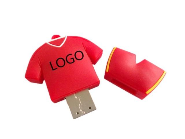 แฟลชไดร์ฟพร้อมสกรีนโลโก้ ราคาขายส่ง flash drive ยาง Soft PVC สีแดง